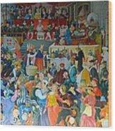 Medieval Banquet Wood Print