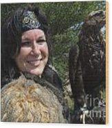 Medieval Barbarian Eriana Iceni And Spirit Wood Print