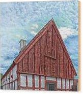 Medieval Building Wood Print