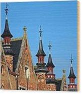Medieval Buildings Towers And Vanes Wood Print