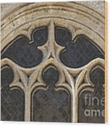Medieval Church Window Ornaments Wood Print