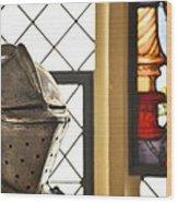 Medieval Helmet Wood Print