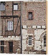 Medieval Houses In Albi France Wood Print