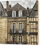 Medieval Houses In Vannes Wood Print by Elena Elisseeva