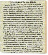 Medieval Provencal Desiderata Poster Wood Print