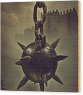 Medieval Spike Ball  Wood Print