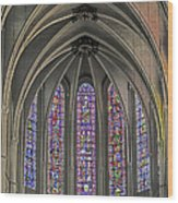 Medieval Stained Glass Wood Print