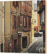 Medieval Street In Albi France Wood Print by Elena Elisseeva