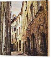 Medieval Street In Perigueux Wood Print by Elena Elisseeva