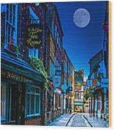 Medieval Street In York Uk Wood Print