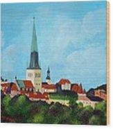 Medieval Tallinn Wood Print