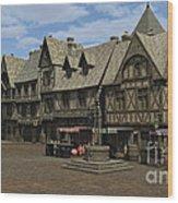 Medieval Town Square Wood Print