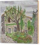 Medieval Village In France 2012 Wood Print