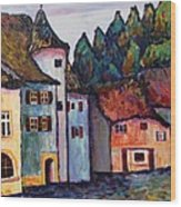 Medieval Village Of St. Ursanne Switzerland Wood Print