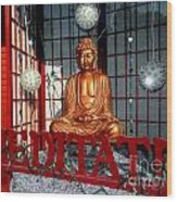 Meditate Wood Print