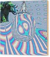 Meditating On Ganesh Wood Print by Jason Saunders