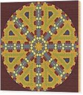 Meditating On Life - Mandala Wood Print