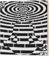Meditation Maze  Wood Print