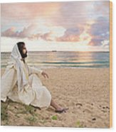 Meditation Of Christ Wood Print