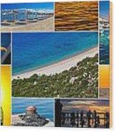 Mediterranean Coast Collage Wood Print