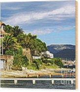Mediterranean Coast Of French Riviera Wood Print