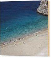 Mediterranean Coastal Scene Wood Print