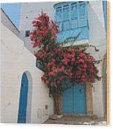 Mediterranean House Wood Print