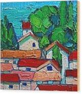 Mediterranean Roofs 1 2 3 Wood Print