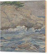Mediterranean Sea Rocks Wood Print