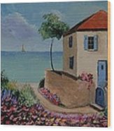 Mediterranean Villa Wood Print by Stefon Marc Brown