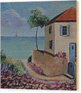 Mediterranean Villa Wood Print