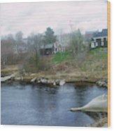Medomak River, Waldoboro,maine Wood Print