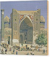 Medrasah Shir-dhor At Registan Place In Samarkand, 1869-70 Oil On Canvas Wood Print