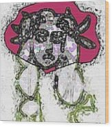 Medusa Looking Through Wood Print