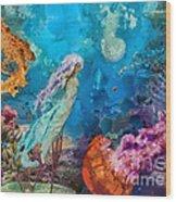 Medusa's Garden Wood Print