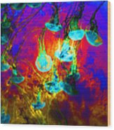 Medusas On Fire 5d24939 Square Wood Print