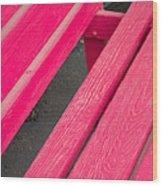 Wimberley Texas Market Red Bench Wood Print