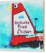 Meet Me At The Big Chicken Wood Print