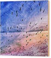 Meet Me Halfway Across The Sky 2 Wood Print by Angelina Vick