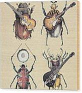 Meet The Beetles Wood Print