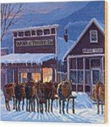Meeting Of The Board Wood Print by Randy Follis