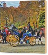 Meeting Of The Carriages Wood Print