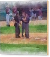 Meeting Of The Umpires Photo Art Wood Print