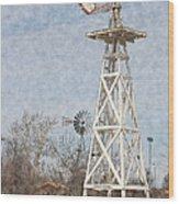 Megan's Windmill Wood Print
