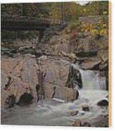 Meigs Falls In Autumn Wood Print