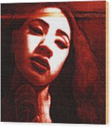 Meisi 2 Wood Print by Teleita Alusa