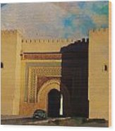 Meknes Wood Print by Catf