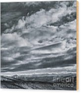 Melancholia Mountains And Even More Mountains Wood Print