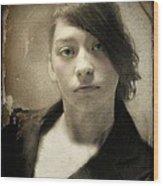 Melancholy Mattie Wood Print