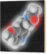 Melatonin Molecule Wood Print